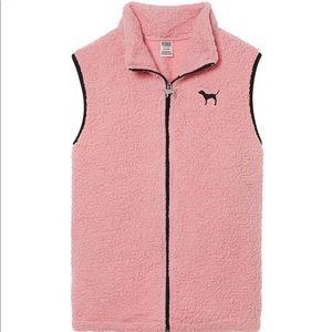 VS Pink Sherpa Vest Size Small